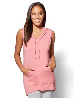 Shop Hooded Tunic Tee. Find your perfect size online at the best price at New York & Company.