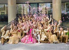 The MUST HAVE picture with your bridal party! So fun and not cheesy. :) Indian wedding, south asian wedding, Chicago wedding.