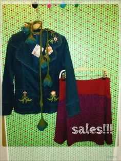 Embroidered corduroy jacket + Coline skirt