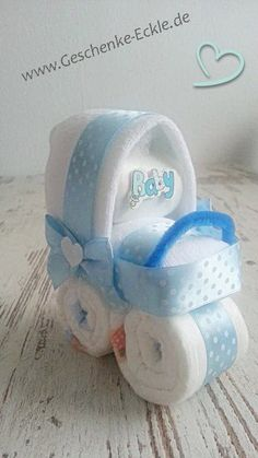 Mini Stroller from Diapers gifts gift baptism Birth young Blue Wow Products, New Baby Products, Baby Shower Baskets, Baby Shower Crafts, Nappy Cake, Baby Washcloth, Baby Carriage, Second Baby, Baby Party