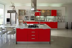 Love the red cabinets, but it's possible that I would want to switch the color within a few years....