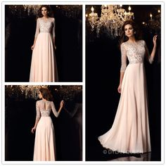 #dylanqueen  beautiful & gracefulfloor-length Prom dress with 3/4 sleeve