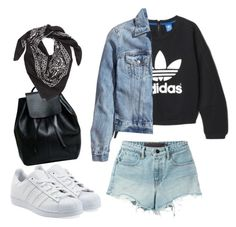 """""""Denim on Denim"""" by filthyriot on Polyvore featuring Alexander Wang, adidas, H&M, adidas Originals, LULLA COLLECTION BY BINDYA, women's clothing, women's fashion, women, female and woman"""