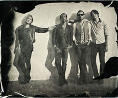 Ian ruhter, photo of band Metric. Wet plate, colloidal. Brilliant.