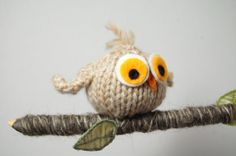 Owl Mobile - Woodland Mobile - Bird - Ornament - Baby Nursery - Waldorf - Natural Fibers - Merino - Wool - Cream - Brown - Green on Etsy, $30.00