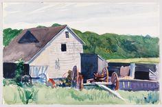 Whitney Museum of American Art: Edward Hopper: (Farm Building with Haywagon)