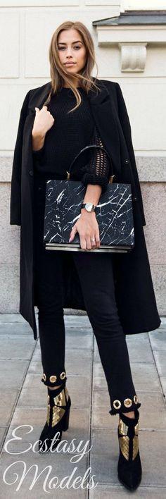 Classic Black // Fashion Look by Kenza Zouiten