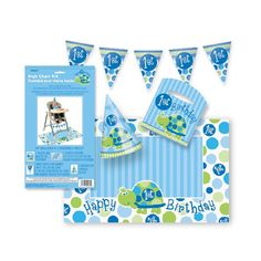 turtle 1st birthday party supplies nz - Google Search