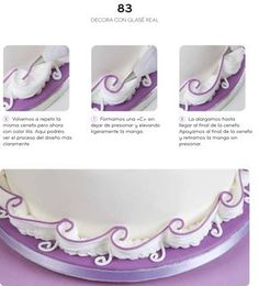 ~ Pin on Royal Icing Lambeth ~ Nov 2019 - Cake Decorating Techniques Borders Frostings 69 Best Ideas Icing Frosting, Frosting Tips, Cake Icing, Cupcake Cakes, Fondant Cakes, Cake Piping Techniques, Cake Decorating Techniques, Cake Decorating Tutorials, Decorating Ideas