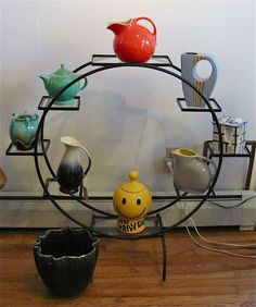 Mod Wrought Iron Display/Plant Stand |     Groovy little stand for indoor plants!