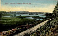 mt lake park md history | 1911 Mountain Lake Park MD Lake Scene Maryland Divided Back Postcard