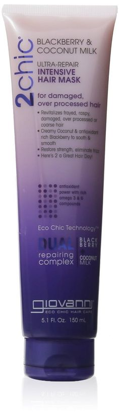 Giovanni 2chic Ultra Repair Hair Mask - Blackberry Coconut Milk .5 oz. (Pack of 2) *** This is an Amazon Affiliate link. Continue to the product at the image link.