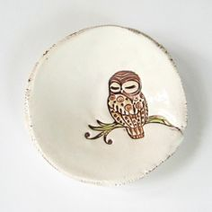 Resting owl dish from Etsy