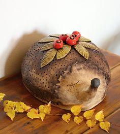 Art Deco, Clay, Christmas Ornaments, Holiday Decor, Home Decor, Cute, Clay Animals, Hedgehog, Craft