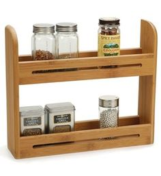 2-Tier Bamboo Spice Rack Image
