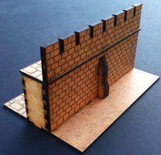 10' Castle Wall Model Kit (28mm) laser cut wargames building / terrain - Sally…