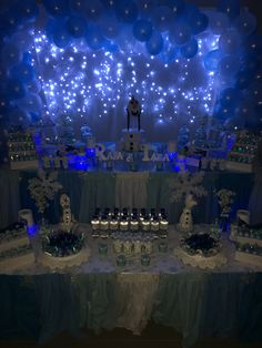 Beautiful frozen table setting