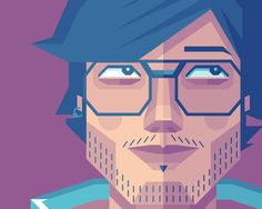 How to Create a Self Portrait in a Geometric Style.... want to try this. I need some work on my vector illustration.