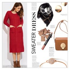 """Sweater Dress"" by mycherryblossom ❤ liked on Polyvore featuring Burberry"