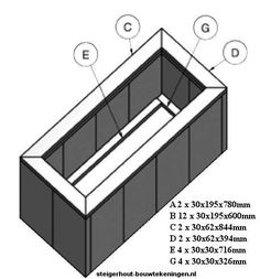Easy homemade planter plans, instructions for wooden planters made of reclaimed wood and scaffolding planks. Easy DIY examples and construction drawings. Homemade Furniture, Diy Furniture, Construction Drawings, Wooden Planters, Rooftop Terrace, Household Items, Potted Plants, Easy Diy, Home And Garden