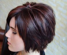 Bob Hair with Cool Nice Hues of Cherry Red