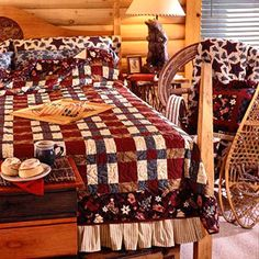 Free pattern: quick and easy strip-pieced quilt with coordinating pillowcases and bed skirt.