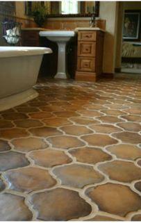 terra cotta tile floor