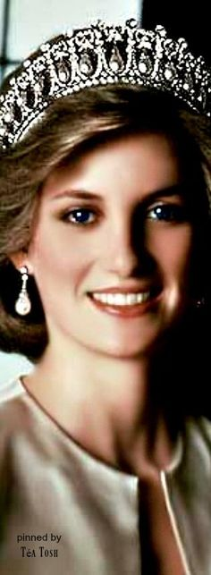 ❈Téa Tosh❈The Princess of Wales (later Diana, Princess of Wales) wearing The…