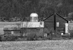 Black & White Of Old Farm Buildings | Love's Photo Album
