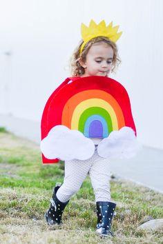 A rainbow and her li