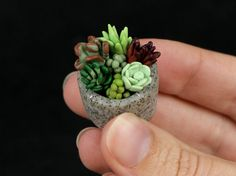 Free Polymer Clay Miniature Projects | This is a super-sized pic – in reality the entire pot is less than 1 ...