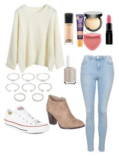 """""""Untitled #32"""" by kdwsg ❤ liked on Polyvore featuring Topshop, Converse, Billini, Forever 21, tarte, MAC Cosmetics, LORAC, Smashbox and Essie"""