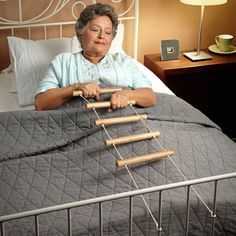 Finally there's a simple but practical item allowing those with disabilities to sit up in bed all by themselves. It's the Bed Ladder