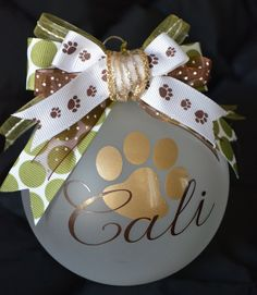 Cher's Signs by Design: Personalized Ornaments - Tap the pin for the most adorable pawtastic fur baby apparel! You'll love the dog clothes and cat clothes! Vinyl Ornaments, Personalized Ornaments, Xmas Ornaments, Christmas Decorations, Cricut Ornament, Custom Ornaments, Ornaments Ideas, Christmas Balls, Christmas Holidays