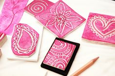Reminds me of carving linoleum tiles in middle school art class.  I'd love to try this.