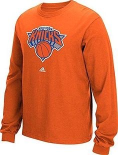 Other Basketball Clothing 158974: Nba New York Knicks Mens Full Primary Logo Long Sleeve Tee, X-Large, Orange -> BUY IT NOW ONLY: $39.45 on eBay!