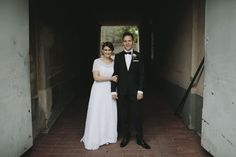 Real wedding in Finland. Dress made by Pukuni (www.pukuni.fi). Wedding dress with lace and short sleeves.