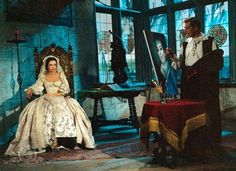 Vincent Price and Barbara Steele in Pit and the Pendulum (1961)