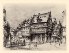1935 Frankfurt Germany Antique Lithograph Vintage by Craftissimo, €12.00