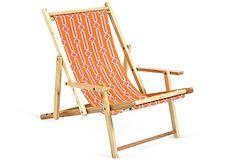 Reversible Beach Chair, Orange/Pink on OneKingsLane.com