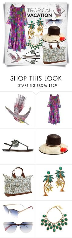 """Tropical Vacation"" by imbeauty ❤ liked on Polyvore featuring Oris, Matthew Williamson, Mr. Blackwell, Valentino, Sophie Anderson, Amy Butler, Elizabeth Cole, Tommy Hilfiger, TropicalVacation and plus size dresses"