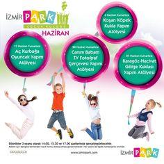 İzmir Park Çocuk Kulübü, Haziran ayına özel, birbirinden renkli ve eğlenceli etkinlikleriyle minik misafirlerini bekliyor.