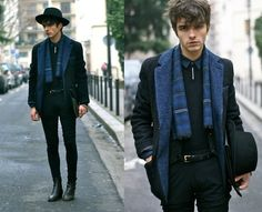 Nasty Gal Wool Blazer, Givenchy Pants, Surface To Air Hat, Vintage Scarf, Boots & Tie Tack, Rykiel Homme Sweater