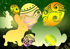 Easter Photoshop Brushes for CS5 & CS6 – Eggs, Bunny & Basket