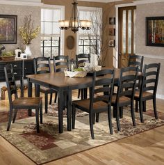 Owingsville 9 Piece Dining Room Extension Table Set By Signature Design Ashley