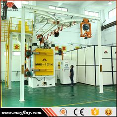 MAYFLAY Factory Provide High Quality Automatic Shot Blasting Machine For LPG Cylinder