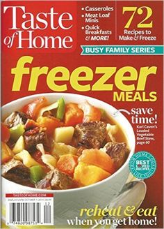Taste of Home Freezer Meals (2014) Paperback – 2014 by Catherine Cassidy (Editor)
