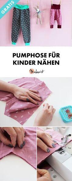Pumphose für Babys und Kinder nähen - kostenlose Nähanleitung via Makerist.de