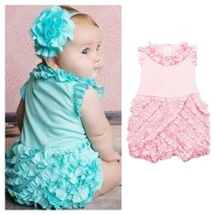 Lemon Loves Lime Rula Romper is just too cute!! It would be perfect for the first year photoshoot!! SALE PRICE: $35 Shipped  Pink Sizes: 3-6M, 12-24M Blue Size: 0-3M Headbands available in pink, blue, & ivory $11 Shipped Sizes: XS, S, M, & L  We offer lay-a-way. Thank you for supporting our small business. #swaddletoddlebearcubgifts #dahlonega #lemonloveslime #summersale #sweetangel #photoideas