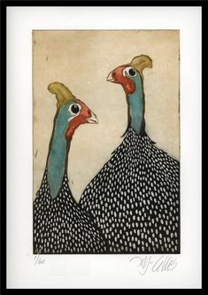 Buy Guinea Fowl, aquatint etching, Etching / Engraving by Mariann Johansen-Ellis on Artfinder. Discover thousands of other original paintings, prints, sculptures and photography from independent artists. Guinea Fowl, Chicken Art, Art Prints For Sale, Bird Prints, Bird Art, Animal Paintings, Lovers Art, Pet Birds, Art Images